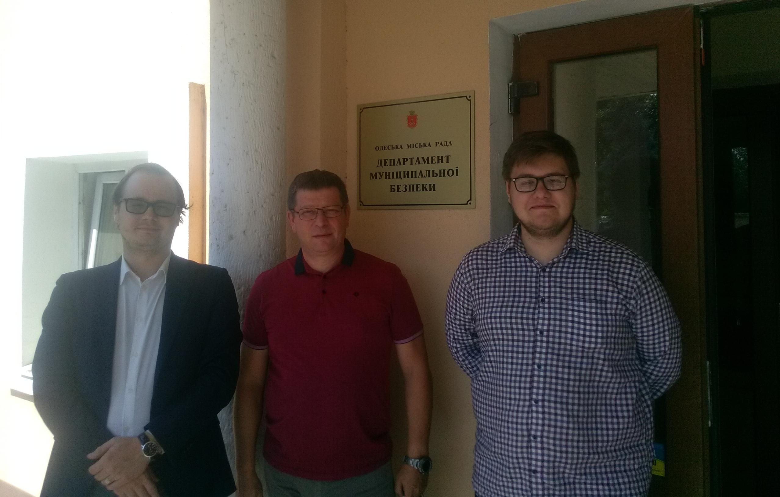 Зліва направо: Михайло Каменєв, Борис Магазинник, Степан Золотар.