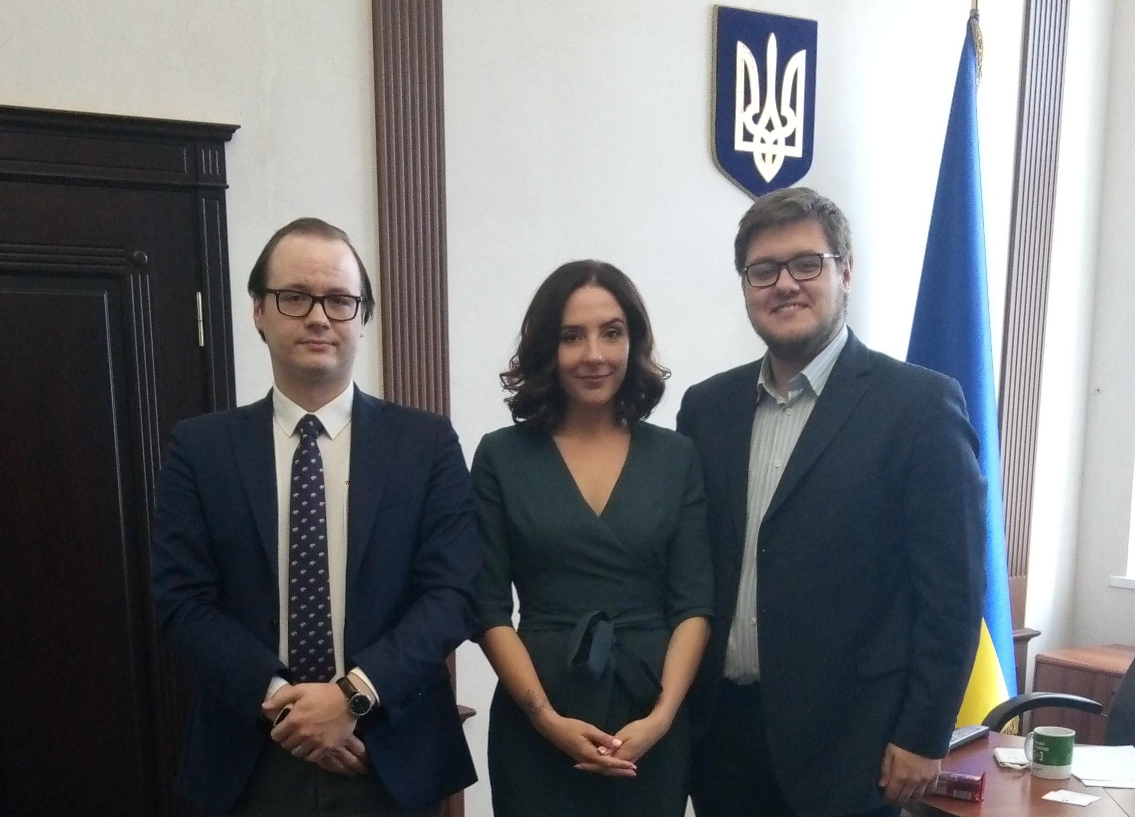 Зліва направо: Михайло Каменєв Валеріія Коломієць, Степан Золотар